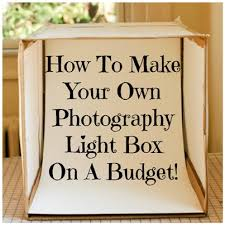 how to make a photo light box how to make your own photography light box on a budget craft
