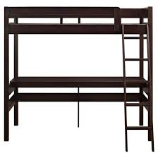 harlan loft bed with desk espresso twin dorel living target