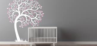 Nursery Room Tree Wall Decals Tree Wall Decal Nursery White Tree Wall Decal Nursery Easy