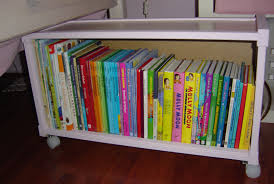 book storage furniture white ikea toy storage with wheels filled with books