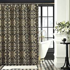 Shower Curtains Black Black And Checkered Curtain Panels Black And Shower