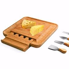 personalized cheese platter bamboo cheese board with cutlery set wood charcuterie platter and