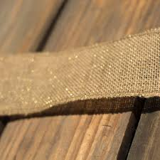 burlap ribbon 2 5 burlap ribbon wired edge gold metallic 10 yards