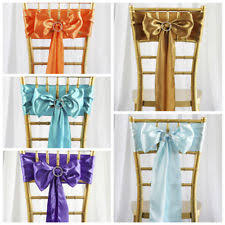 chair sash satin chair sashes venue decorations ebay