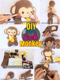 diy sock animals 50 steps how to make an adorable sock monkey toy