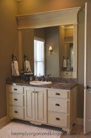 diy frame for bathroom mirror vanity decoration