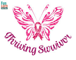 breast cancer awareness svg thriving survivor ribbon