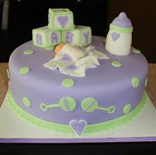 baby shower cake lettering letter green and purple purple baby