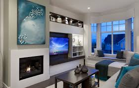 portico design group fireplace next to tv screen good layout