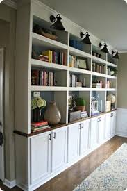 Diy Built In Cabinets by Built In Bookshelf Nice Dimensions And Doors How To Raise Up On