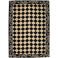 Modern Area Rugs 6x9 Black And White Contemporary Wool Area Rugs 6x9