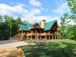 log cabin luxury homes wilderness lodge luxury log cabin gatlinb vrbo