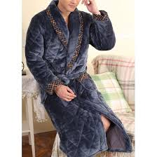 robe de chambre chaude pour homme robe de chambre homme matelassée bleue liseré lepeignoir fr