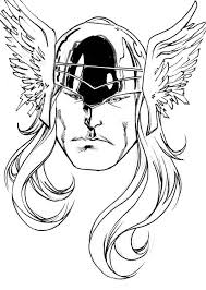 Thor Face Coloring Pages Google Search Must Have Pinterest Thor Coloring Page