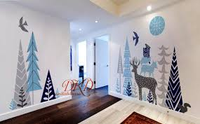 Woodland Forest Peel And Stick Woodland Forest Nursery Wall Decal Kids Room Decal Vinyl Wall