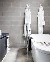 cinder block garden bed bathroom modern with concrete floor