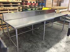 Stainless Steel Kitchen Island With Seating Stainless Steel Table Ebay