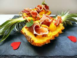 cuisiner l ananas ananas au jambon cru recette le jambon recette ananas et grand chef