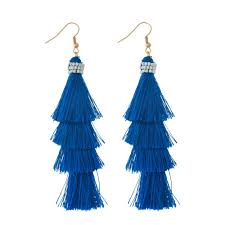 feather earings blue white feather earrings shop twenty something