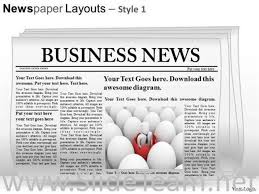 newspaper theme for ppt editable newspaper slide layout powerpoint themes powerpoint diagram