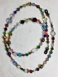 crystal bead necklace jewelry images Beaded eyeglass holder necklace crystal beads multi color free jpg