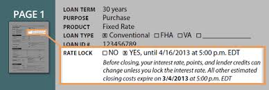 Estimate Mortgage Rate by Loan Estimate Has The Interest Rate Been Locked