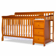 Pecan Changing Table On Me Brody 4 In 1 Convertible Crib With Changer In Pecan