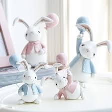 rabbit home decor ins hot nordic lovely cute bunny rabbit fairy statue figurine