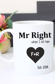 His And Her Mug Valentines Day Gift His And Her Mugs Mr And Mrs Mug Gift For