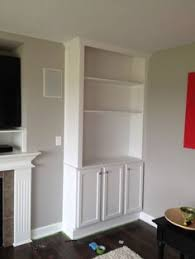 Diy Built In Cabinets by How To Build Bookcases Using Kitchen Cabinets For The Base Via