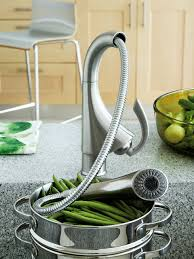 grohe k4 kitchen sink mixer tap with pull out spray chrome