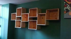 Wood For Shelves Making by Diy How To Make A Wine Box Book Shelf Youtube