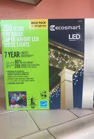 ecosmart 200 led icicle lights led 200 eco smart lights general in victorville ca offerup