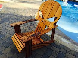 Skull Adirondack Chair Buy A Hand Crafted Punisher Skull Adirondack Chair Made To Order