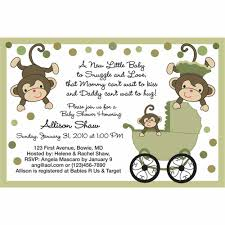 monkey baby shower invitations cloveranddot com