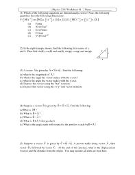 physics worksheets vectors physics worksheets vectors related to