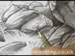 waterfall in goathland sketching demonstration by peter woolley
