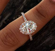 oval engagement ring with halo 1 50 carats canada certified g if oval