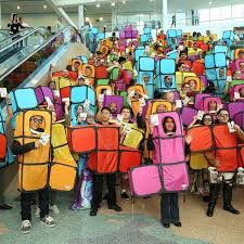 Tetris Halloween Costume Action Figure Insider Hundreds Sized Tetris Pieces