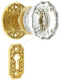 key entry door knob china scroll rosette mortise lock set with