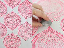 Block Print Wallpaper Diy Woodblock Printing