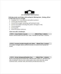 meeting agenda sample 30 examples in word pdf