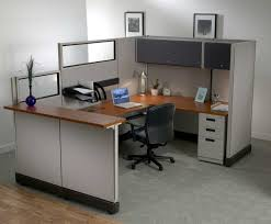 Home Office L Shaped Computer Desk Decoration Ideas Brown Wooden L Shaped Computer Desk With