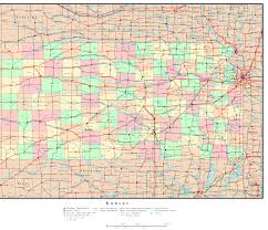 Kansas City Map Kansas Road Map State And County Maps Of Kansas Kansas Route 66