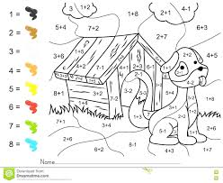 color by number addition christmas tree paint numbers subtraction
