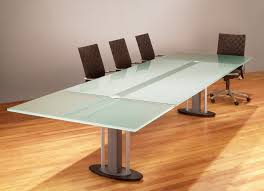 Oak Meeting Table Enchanting Rectangle Light Green Glass Conference Table Steel