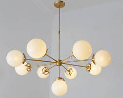 Glass Balls Chandelier Ceiling Light Etsy