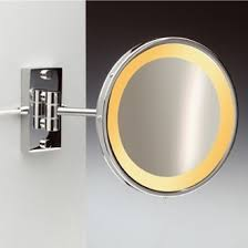 wall mounted hardwired lighted makeup mirror hardwired makeup mirrors magnifying mirrors thebathoutlet com
