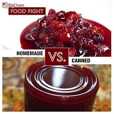 bigoven food fight the canned stuff vs cranberry sauce