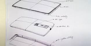 oneplus one phone sketches hint at design slashgear